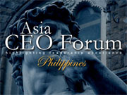 Asia CEO Forum - Largest regular business event in Philippines.