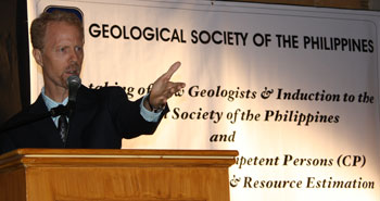 Richard Mills gives Keynote Address for Geological Society annual event.